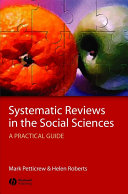 Systematic Reviews in the Social Sciences