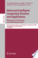 Advanced Intelligent Computing Theories And Applications With Aspects Of Theoretical And Methodological Issues Book PDF