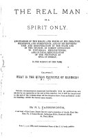 The Real Man is a Spirit Only