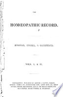 Homoeopathic Record