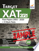 Free Sample  Target XAT 2021  Past Papers 2005   2020   5 Mock Tests  12th Edition