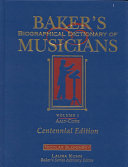 Baker's Biographical Dictionary of Musicians: Aalt-Cone