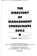 The Directory of Management Consultants 2003