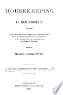 Housekeeping in Old Virginia