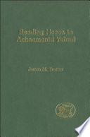 Reading Hosea In Achaemenid Yehud Book PDF