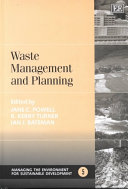 Waste Management and Planning