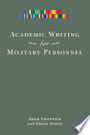 Academic Writing for Military Personnel Book