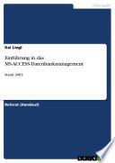 Einführung in das MS-ACCESS-Datenbankmanagement