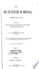 The Codes and Statutes of Montana