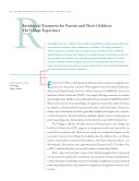 Residential Treatment for Parents and Their Children  The Village Experience  A Reprint from    Science and Practice Perspectives