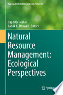 Natural Resource Management  Ecological Perspectives