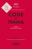 Pdf Code du travail 2021, annoté et commenté - 85e ed. Telecharger