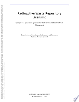 Download Radioactive Waste Repository Licensing Free Books - Read Books