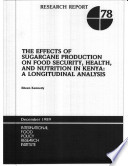 The Effects of Sugarcane Production on Food Security, Health, and Nutrition in Kenya