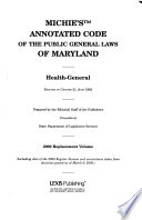 The Annotated Code of the public general laws of Maryland