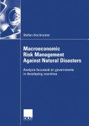 Macroeconomic Risk Management Against Natural Disasters Pdf/ePub eBook
