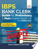 Free Sample Ibps Bank Clerk Guide For Preliminary Main Exams 2020 21 With 4 Online Tests 10th Edition