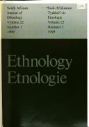 South African Journal Of Ethnology
