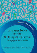 Pdf Language Policy for the Multilingual Classroom Telecharger