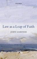 Pdf Law as a Leap of Faith
