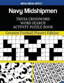 Navy Midshipmen Trivia Crossword Word Search Activity Puzzle Book