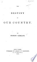 The Destiny of Our Country Book PDF