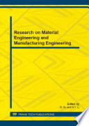Research on Material Engineering and Manufacturing Engineering