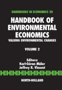 Handbook of Environmental Economics