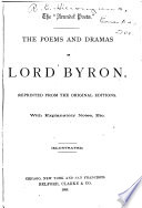 The Poems And Dramas Of Lord Byron