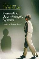 Pdf Rereading Jean-François Lyotard Telecharger