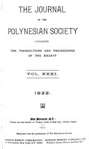 The Journal Of The Polynesian Society