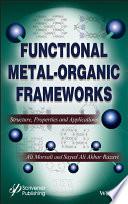 Functional Metal Organic Frameworks Book