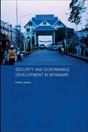 Security and Sustainable Development in Myanmar Pdf/ePub eBook