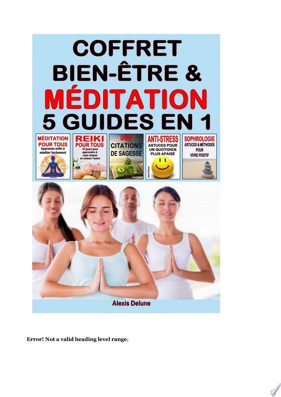Coffret Bien-être & Méditation : 5 guides en 1