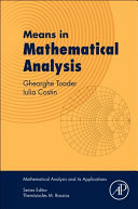 Cover image of Means in mathematical analysis : bivariate means
