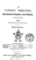 The Catholic Directory  Ecclesiastical Register  and Almanac