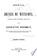 Journal of the Council During the     Session of the Legislative Assembly of the Territory of Minnesota
