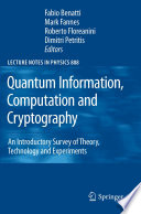 Quantum Information  Computation and Cryptography