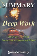 Summary   Deep Work Book PDF