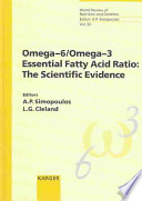 Omega 6 Omega 3 Essential Fatty Acid Ratio Book PDF
