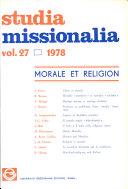 Pdf Studia Missionalia: Vol.27 Telecharger