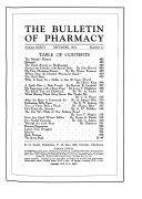 The Bulletin Of Pharmacy