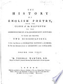 History of English Poetry