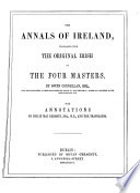"""The Annals of Ireland"" by Michael O'Clery, Owen Connellan, Cucogry O'Clery, Philip MacDermott, Ferfeasa O'Mulconry"