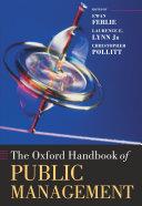The Oxford Handbook of Public Management
