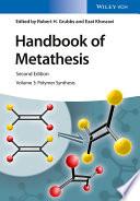 Handbook Of Metathesis Volume 3 Book PDF
