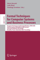 Formal Techniques for Computer Systems and Business Processes