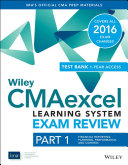 Wiley CMAexcel Learning System Exam Review 2016: Part 1, Financial Planning, Performance and Control (1-year Access)