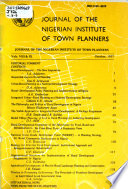 Journal of the Nigerian Institute of Town Planners