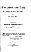 Wurzel-Wörterbuch der indogermanischen Sprachen